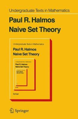 Book Naive Set Theory by P. R. Halmos