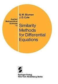 Book Similarity Methods for Differential Equations by G.W. Bluman