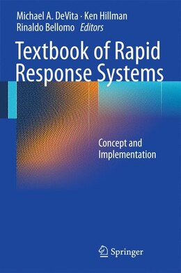 Book Textbook of Rapid Response Systems: Concept and Implementation by Michael A. DeVita