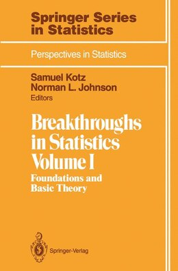 Book Breakthroughs in Statistics: Foundations and Basic Theory by Samuel Kotz
