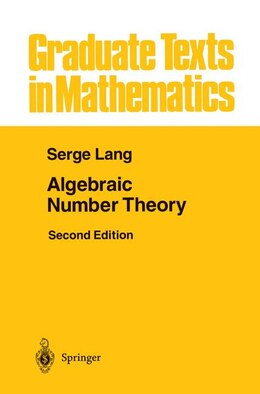 Book Algebraic Number Theory by Serge Lang