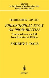 Book Pierre-Simon Laplace Philosophical Essay on Probabilities: Translated from the fifth French edition… by Pierre-Simon Laplace