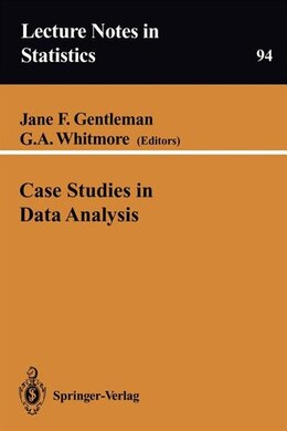 Book Case Studies in Data Analysis by Jane F. Gentleman