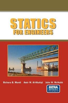 Book Statics For Engineers by Bichara B. Muvdi