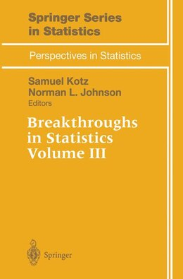 Book Breakthroughs in Statistics: Volume III by Samuel Kotz