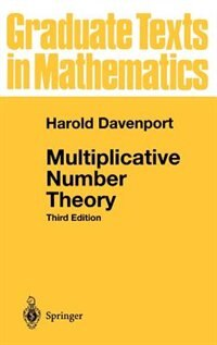 Book Multiplicative Number Theory: Multiplicative Number Theory 3 by Harold Davenport