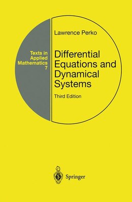 Book Differential Equations and Dynamical Systems by Lawrence Perko