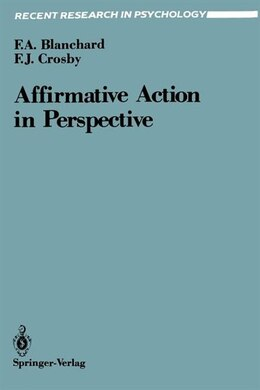 Book Affirmative Action in Perspective by Fletcher A. Blanchard
