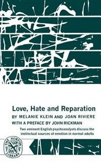 Book Love, Hate & Reparation by Melaine Klein