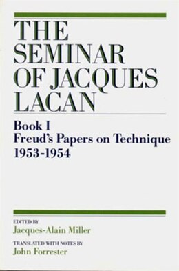 Book 01 Seminar Of Jacques Lacan by Jacques Lacan