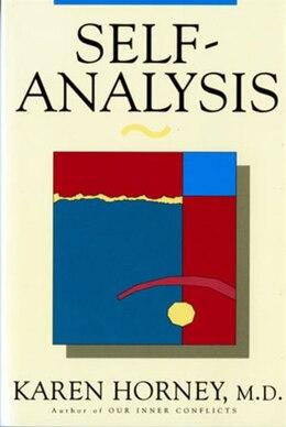 Book Self Analysis by Karen Horney
