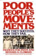 Poor People's Movements: Why They Succeed, How They Fail by Frances Fox Piven