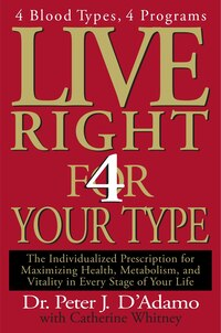 Live Right 4 Your Type: 4 Blood Types, 4 Program -- The Individualized Prescription For Maximizing…