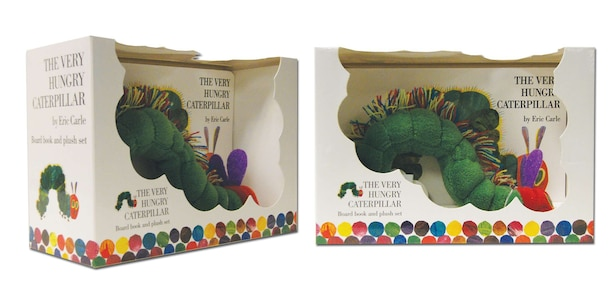 The Very Hungry Caterpillar Board Book And Plush by Eric Carle