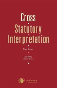 Cross: Statutory Interpretation