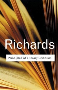 Book Principles of Literary Criticism by I.a. Richards
