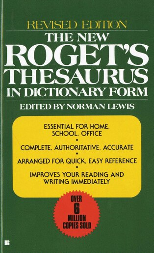 the new roget s thesaurus in dictionary form revised edition book