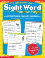 100 Write-and-Learn Sight Word Practice Pages: Engaging Reproducible Activity Pages That Help Kids…