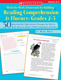 Week-by-Week Homework for Building Reading Comprehension and Fluency: 30 Reproducible High-interest…
