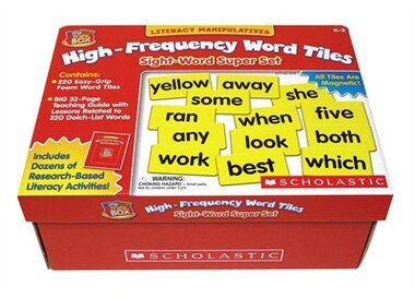 Little Red Tool Box: High-Frequency Word Tiles: Sight-Word Super Set: Grades 1-2 by Scholastic Inc
