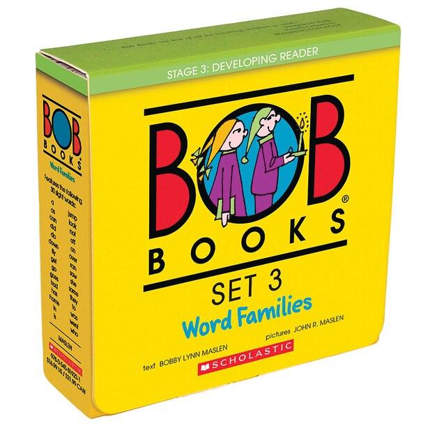 Bob Books -Word Families Box Set   Phonics, Ages 4 and up, Kindergarten, First Grade (Stage 3: Developing Reader) de Bobby Lynn Maslen