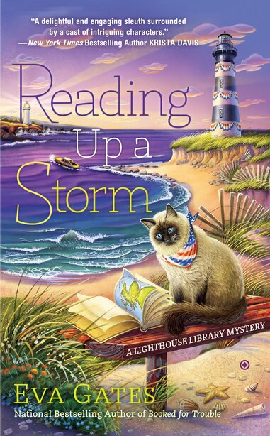 Reading Up A Storm: A Lighthouse Library Mystery by Eva Gates