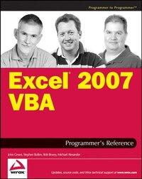 Excel 2007 VBA Programmer's Reference