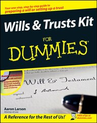 Will kit in all shops chaptersdigo wills and trusts kit for dummies solutioingenieria Image collections