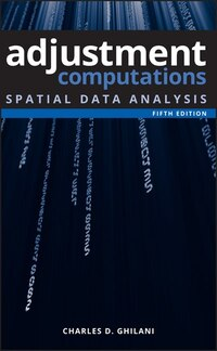 Adjustment Computations: Spatial Data Analysis