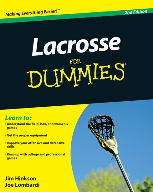 Lacrosse For Dummies by Jim Hinkson