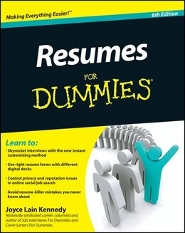 Book Resumes For Dummies by Joyce Lain Kennedy