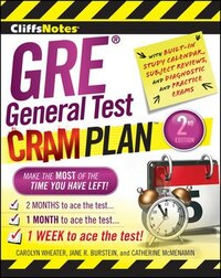 CliffsNotes GRE General Test Cram Plan 2nd Edition: 2nd Edition