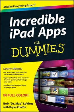 Book Incredible iPad Apps For Dummies by Bob LeVitus