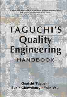 Taguchi's Quality Engineering Handbook by Genichi Taguchi