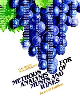 Book Methods Analysis of Musts and Wines by C. S. Ough