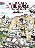 Book Wild Cats Of The World Coloring Book by John Green