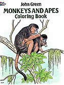 Book Monkeys And Apes Coloring Book by John Green