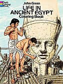 Book Life In Ancient Egypt Coloring Book by John Green
