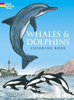 Book Whales And Dolphins Coloring Book by John Green