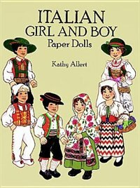 Book Italian Girl and Boy Paper Dolls by Kathy Allert