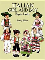 Italian Girl and Boy Paper Dolls