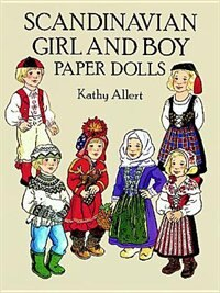 Book Scandinavian Girl And Boy Paper Dolls by Kathy Allert