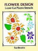 Flower Design Laser-cut Plastic Stencils by Sue Brooks
