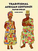 Book Traditional African Costumes Paper Dolls by Yuko Green
