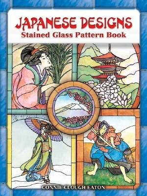 Japanese Designs Stained Glass Pattern Book by Connie Clough Eaton