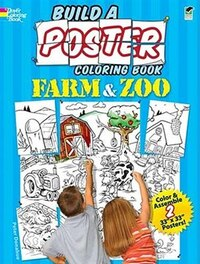 Build a Poster Coloring Book--Farm & Zoo