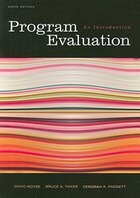 Program Evaluation: An Introduction