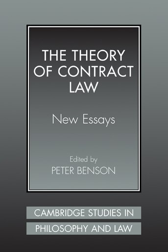 the theory of contract law benson peter