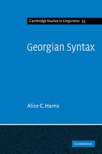 Georgian Syntax: A Study in Relational Grammar