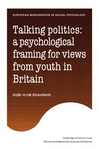 Talking Politics: A Psychological Framing of Views from Youth in Britain